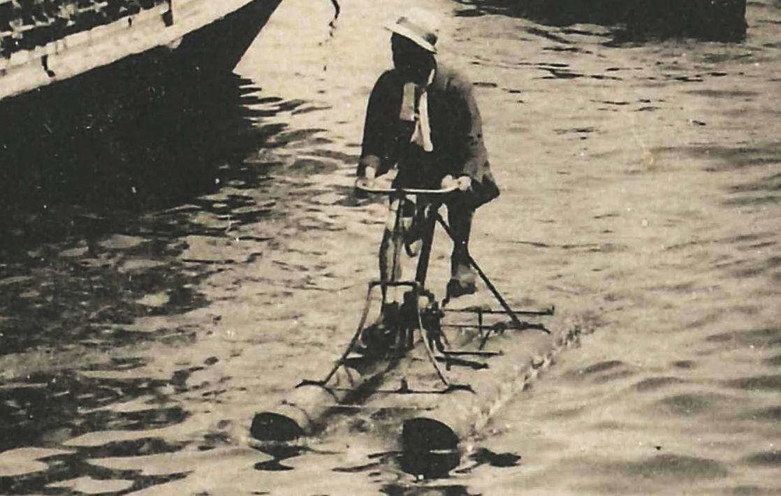 大正時代の海上自転車3