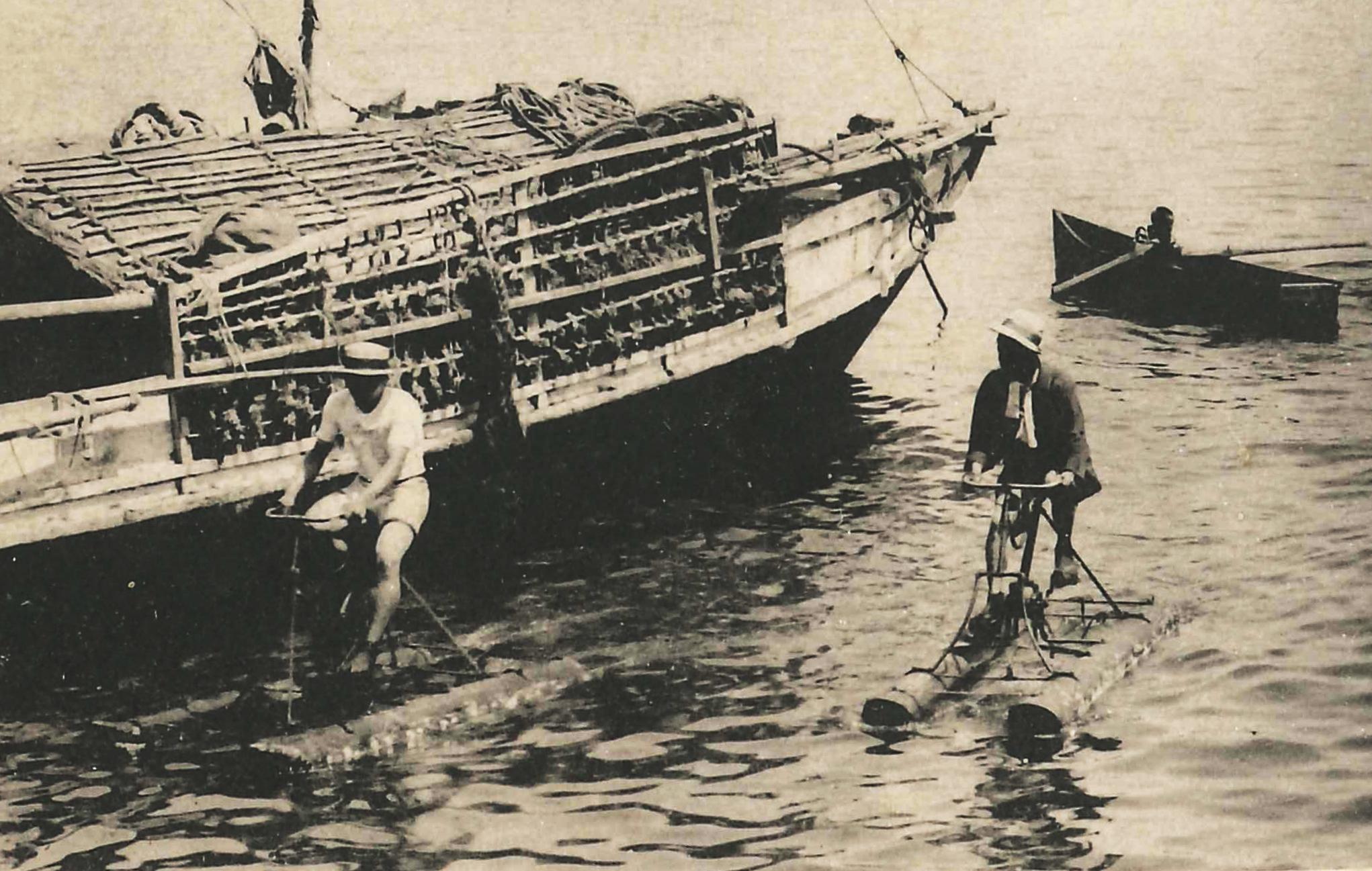 大正時代の海上自転車2